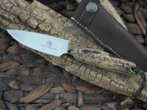 Arno Bernard Knives 2018 Series Bongo with Kudu Bone handles