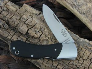 Fallkniven Folding Hunter with Black Micarta handles and LamCos blade FH9BH