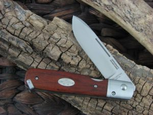 Fallkniven Gentlemans Pocket Knife with Redwood handles and LamCos blade GP