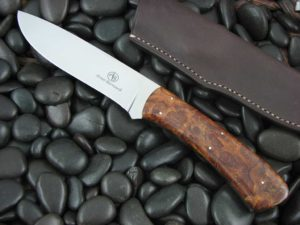 Arno Bernard Knives Giant Buffalo Satin N690 Ironwood 1203