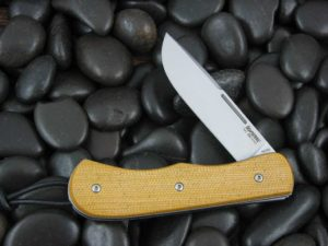 Lion Steel Drop Point Jack with Natural Canvas Micarta handles CK0217NC