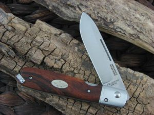 Fallkniven Gentlemans Pocket Knife with Desert Ironwood handles and LamCos blade GPdi