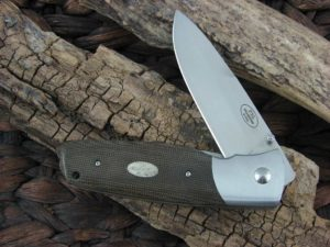 Fallkniven PXL with Green Micarta handles and 3G blade PXLGM