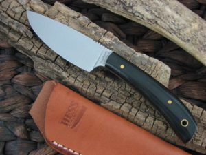 Hess Knives Large Caper with Black Micarta handles