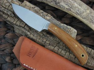 Hess Knives Large Caper with Brown Micarta handles