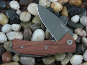 LionSteel KUR with Santos Wood handles KUR-BST