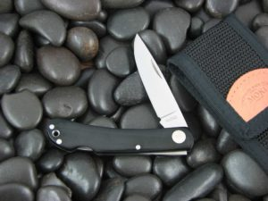 Moki Lockback with Black Linen Micarta handles MK120M