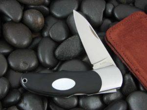 Moki Lockback with Black Linen Micarta handles MK205ME