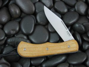 Lion Steel Clip Jack with Natural Canvas Micarta handles CK0212NC
