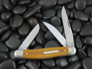 Great Eastern Cutlery Tidioute Stockman with Natural Canvas Micarta handles 828318