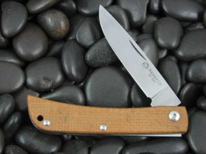Maserin Cutlery Plow Sodbuster with Natural Canvas Micarta handles CK0314