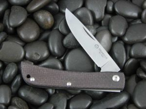 Maserin Cutlery Plow Sodbuster with Burgundy Canvas Micarta handles CK0314