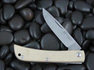 Maserin Cutlery Plow Sodbuster with Bleached Canvas Micarta handles CK0314