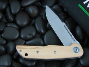 MKM LionSteel Terzuola Clap with Olive Wood handles MKLS01O