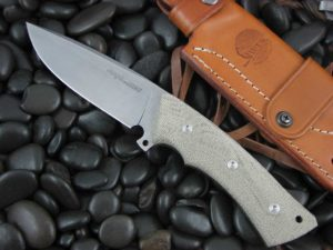 Viper Cutlery Gianghi with Green Canvas Micarta handles