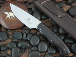 Arno Bernard Knives Grazer Zebra with Ebony Wood handles