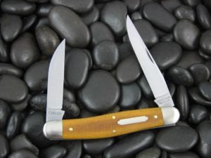 Great Eastern Cutlery Tidioute Possum Skinner with Natural Canvas Micarta handles 828218