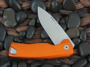 LionSteel Knives ROK with Orange Aluminum frame ROK AOS