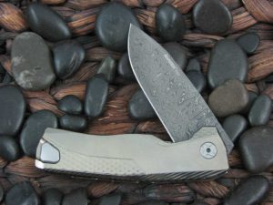 LionSteel Knives ROK with Gold Titanium frame ROK DDGL