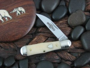 Great Eastern Cutlery Northfield Jack with Smooth White Bone handles 060119