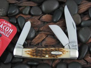 Case Knives Large Stockman with Amber Bone handles CA00204