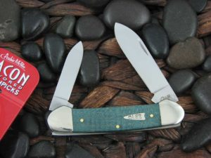 Case Knives Canoe with Turquoise Curly Maple Wood handles CA23367