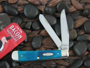 Case Knives Trapper with Caribbean Sawcut Bone handles CA25592