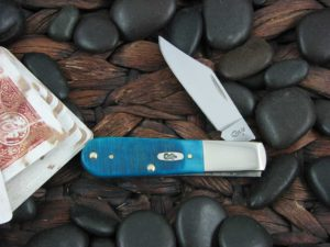 Case Knives Barlow with Caribbean Blue Sawcut Bone handles CA25595