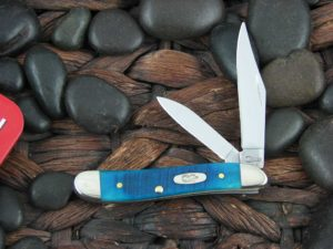 Case Knives Peanut with Caribbean Sawcut Bone handles CA25596