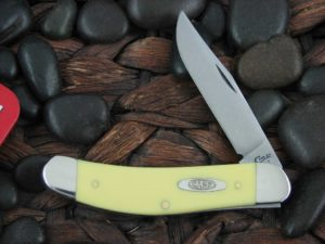 Case Knives Sowbelly with Yellow Synthetic handles CA30115