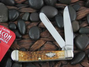 Case Knives Trapper with Burnt Amber Bone handles CA80254