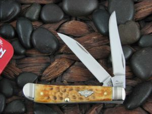 Case Knives Mini Trapper with Burnt Amber Bone handles CA80256