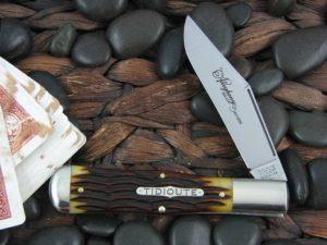 Great Eastern Cutlery Allegheny Large Coke Bottle Tidioute Autumn Gold Bone 971119