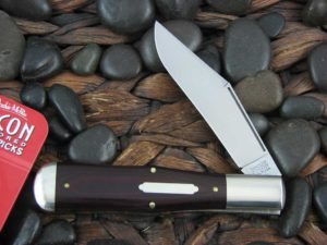 Great Eastern Cutlery Tidioute Large Coke Bottle with Maroon Micarta handles 971119