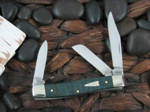 Case Knives Medium Stockman with Turquoise Curly Maple Wood handles CA23361