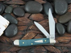 Case Knives Peanut with Turquoise Curly Maple Wood handles CA23363