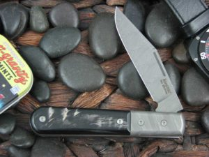 Lion Steel Shuffler Clip Jack Rams Horn Handles Blade and Bolsters are Damasteel Super Dense Steel CK0112