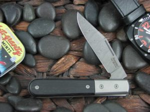 Lion Steel Shuffler Clip Jack Ebony Wood Handles Damasteel Super Dense Steel CK0112