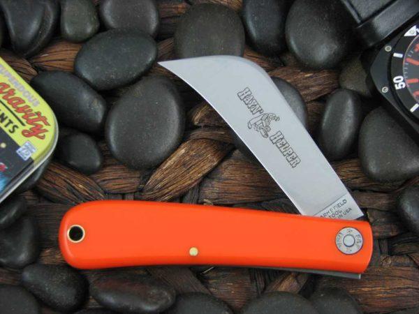 Great Eastern Cutlery Hayin Helper Hawkbill Farm & Field Orange Delrin  47P116   CollectorKnives