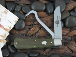 Great Eastern Cutlery Trapper with OD Green Canvas Micarta handles 725213