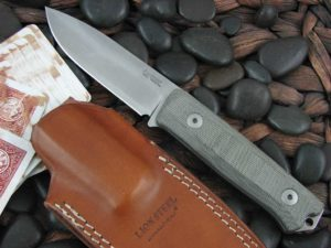 lionSteel B40 with OD Canvas Micarta handles Bushcraft