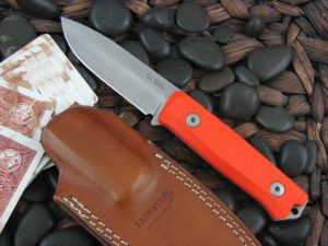 lionSteel B40 with Orange G10 handles Bushcraft