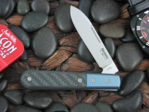 lionSteel Spear Jack with Blue Anodized Titanium Bolsters Carbon Fiber handles CK0111