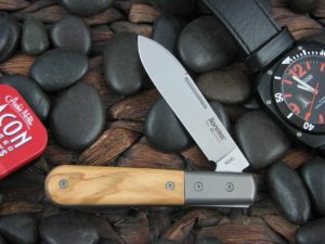 lionSteel Spear Jack with Titanium Bolsters Olive Wood handles CK0111