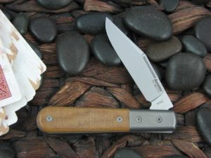 Lion Steel Shuffler Clip Jack Natural Canvas Micarta Handles M390 Steel CK0112