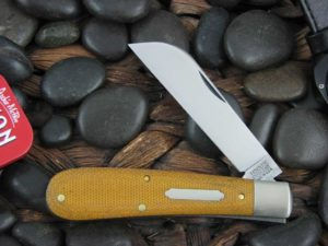 Great Eastern Cutlery Tidioute Swayback Jack with Natural Canvas Micarta handles 933119