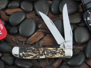 Case Knives Mini Trapper with Toasted Bone handles CA67911