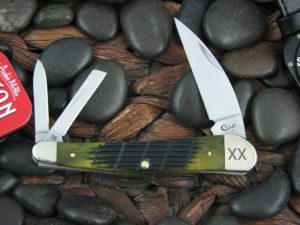Case Knives Seahorse Whittler with Olive Green Bone handles CA16022