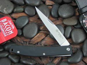 Maserin Cutlery EDC with Black Linen Micarta handles 164