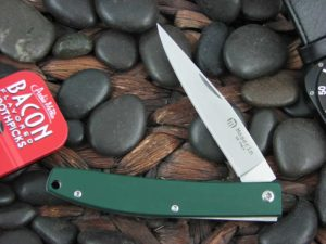 Maserin Cutlery EDC with Green Linen Micarta handles 164